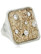 Bansri Enamel Ring for Women (Golden and Silver) (R0018 GS - J7)