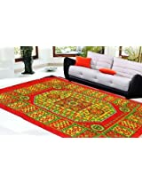 Decorvilla Traditional Design Maroon Quilted Carpet