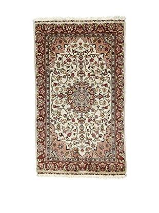 L'Eden del Tappeto Teppich Kashmirian F/Seta braun/beige 161t x t93 cm