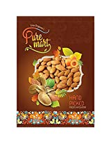 Pure Mart Almonds (Premium) 450 Gms