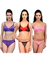 Urbaano Multi NOIVA Bridal Set- URM0901T - Pink ,Purple , Red (36)