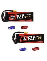 Venom Fly 50 C 6 S 2500m Ah 22.2 V Li Po Battery With Universal 2.0 Plug X2 Packs