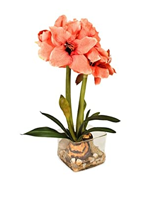 New Growth Designs Faux Amaryllis Bulb Plant (Apple Blossom)