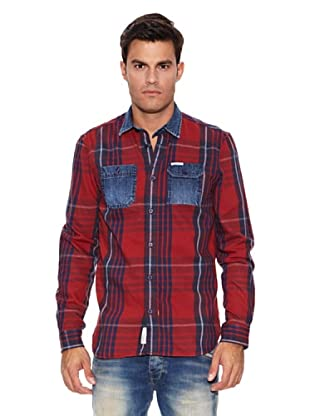 Pepe Jeans London Camisa Revelation (Azul / Rojo)
