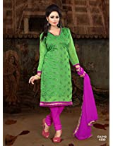 Attractive Designer Green And Pink Salwar Suit FA218-1009