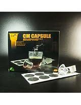 M&c Cm Caspule -Box Of 100Pcs Clear Color Empty Capsule Compatbile Nespresso(Fillable Tea Or Coffee) +100Pcs Cm Lids