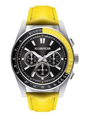 K&BROS 9902-3 / Reloj de Caballero  con correa de piel Amarillo