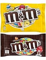 M&M's Chocolate Candy Combo - Chocolate 45 Grams + Peanut Sugar Shell 45 Grams!