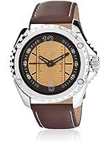 Nc3063Sl03-Db238 Brown / Yellow Analog Watch