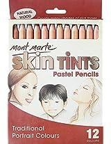 Mont Marte Skin Tints Pastel Pencils 12 Colours MPN0018