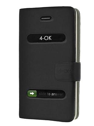 Blautel iPhone 4/4S Funda 4-Ok Slim Fit H Negro
