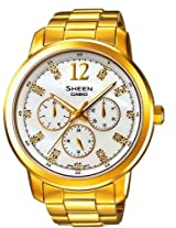 Casio Sheen Analog White Dial Women's Watch - SHE-3802GD-7ADR (SX050)