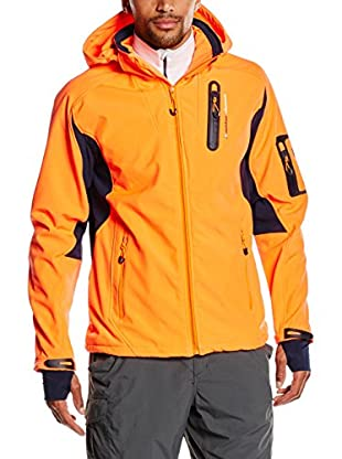 Peak Mountain Giacca Softshell Cavibyks Arancione/Blu Scuro 2XL