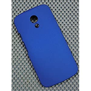MOTOROLA MOTO G2 2nd Gen XT1068 IMPORTED MATTE FINISH HARD BACK CASE COVER GUARD FOR G 2 ROYAL BLUE - MEGABYTE