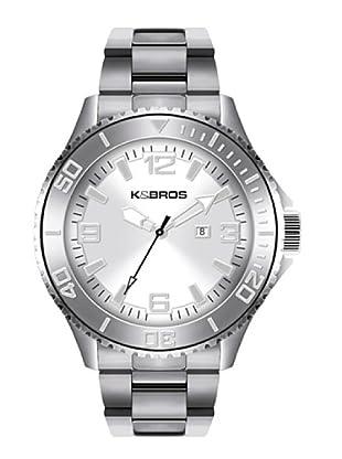K&BROS 9564-2 / Reloj de Caballero  con brazalete metálico Plateado