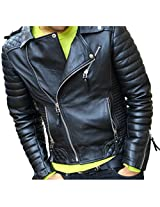 Zayn Leather Men's Leather Jacket (348_WLJ_Black_Medium)