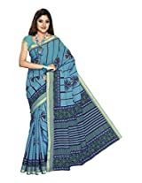 Suhanee Cotton Saree (Suhagan - 1008 _Blue)