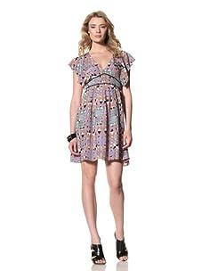 Twinkle by Wenlan Women's Chasing Moonlight Short Dress (Castle Garden Radiant)