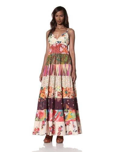 Dallin Chase Women's Dani Tiered Print Maxi Dress (Multi)