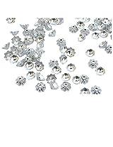 Buy 1 Get 1 Free- Foppish Mart Silver Floral Filler Beads