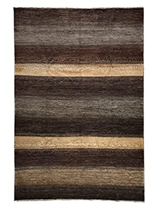 Darya Rugs Traditional Oriental Rug, Brown, 6' 6
