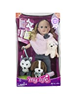 My Life As 18 Inch Doll Of The Year Dogwalker Blonde Walmart Exclusive