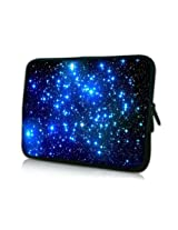 MyGift 13 Inch Endless Universe With Twinkling Blue Stars DOUBLE Sided Print Design Laptop Carrying ...