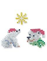 Perler Beads Biggie Bead Fused Bead Kit, Santa Polar Bear