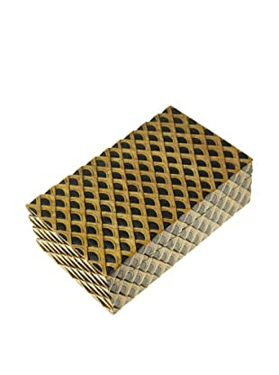 The Niger Bend Rectangular Soapstone Box with Dragon Skin Design