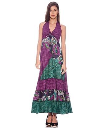 Sigris Vestido Hippie (Morado / Verde)