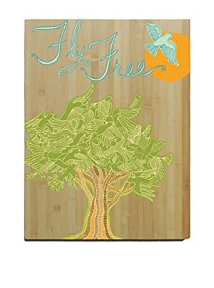 Artehouse Fly Free Bamboo Wood Sign, 20