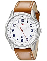 Tommy Hilfiger Men's 1710311 Stainless Steel Watch with Brown Leather Band