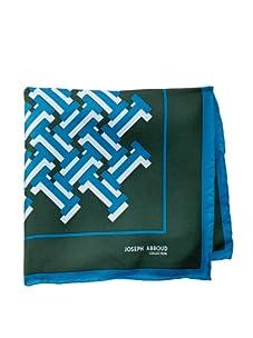 Joseph Abboud Men's Bricks Pocket Square, Blue