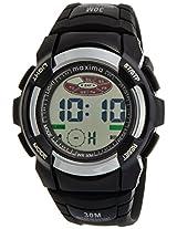 Maxima Digital Silver Dial Men's Watch - 28640PPDN