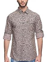 SPYKAR Men Cotton Olive Casual Shirt (X-Large)