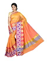 Korni Cotton Silk Banarasi Saree ISL-669- Orange KR0434
