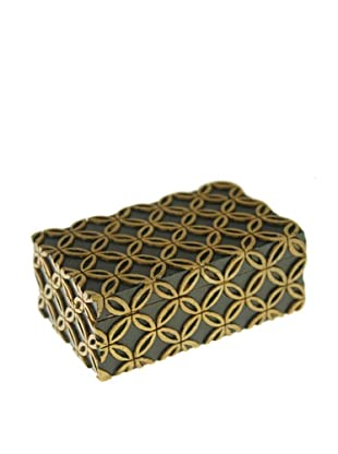 The Niger Bend Soapstone Business Card Box with Interlocking Circle Design