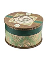 Cottage Garden Daughter Belle Papier Round Musical Jewelry Box with Elegance Finish Plays Wonderful