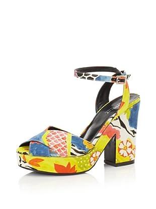Philosophy di Alberta Ferretti Women's Graphic Platform Sandal (Multicolor Red/Yellow)