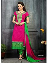 Fabboom New Pink And Green Straight Cut Suit.