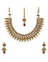 Cyan Uptown Ethnic Jewellery Set for Women