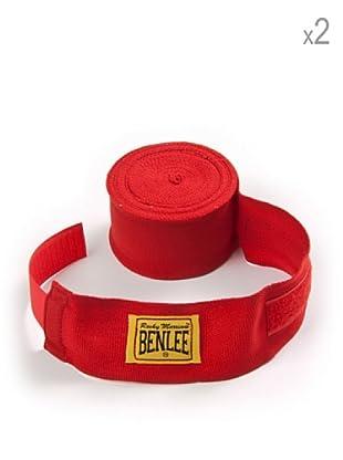 Benlee Pack 2 Vendas Para Manos Elastic 300 cm (Rojo)