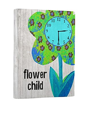Flower Child Reclaimed Wood Clock