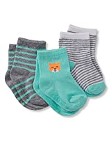 Carter's Baby Boys' Carter's 3-pack Baby Socks (12-24 Months, Fox)