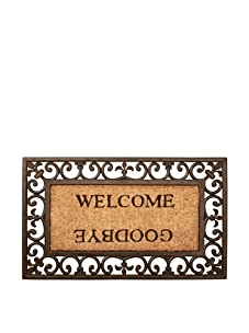 Esschert Design Welcome/Goodbye Door Mat - Rectangle