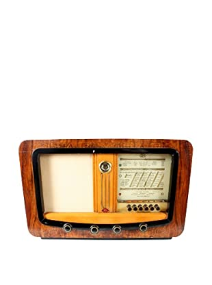 Sbr Vintage International Radio, Brown/Tan/Gold/Black