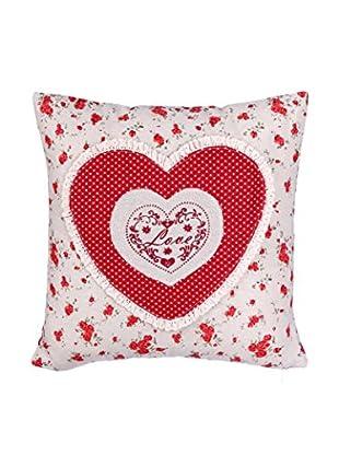 Romantic Style Cojín Love Rojo / Blanco