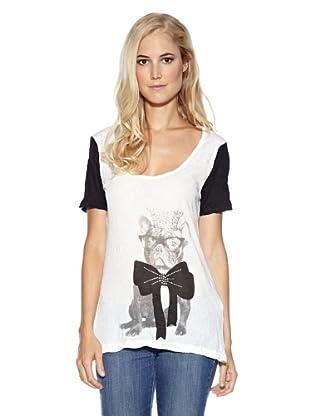Cream T-Shirt Julia (Weiß/Schwarz)
