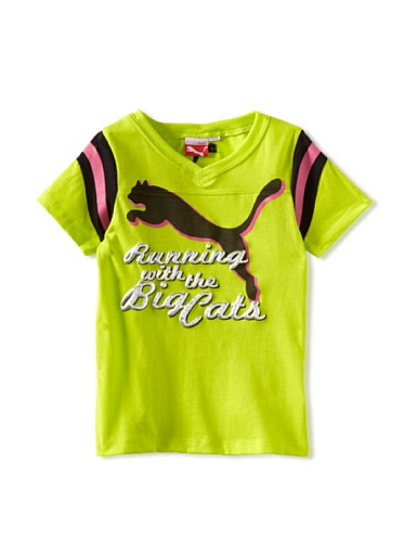 Puma Girls 2-6X Big Cats Football Tee (Green)