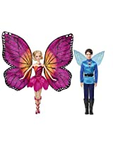 Mattel Barbie Mariposa and The Fairy Princess Giftset